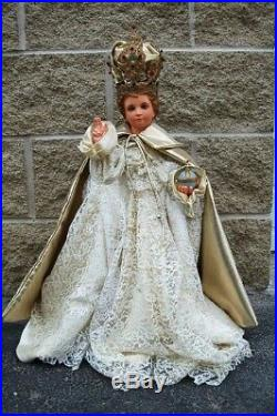 + Very nice antique Infant of Prague Statue (Baby Jesus) + chalice co. +