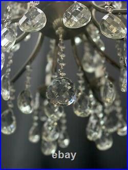 Very nice large old vintage crystal chandelier 18 lamp