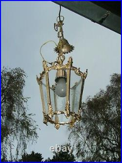 Very nice vintage French hall light chandelier A real beauty