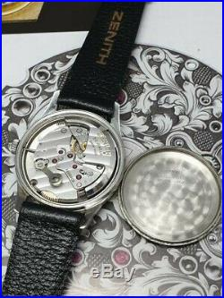 Very nice vintage zenith pilot bumper automatic-calibre 133.8-stainless steel
