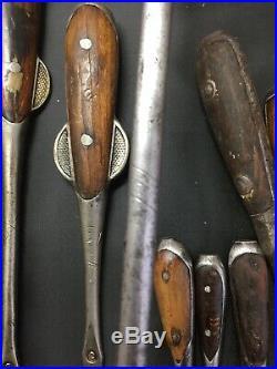 Vintage 16 Piece PERFECT HANDLE Screwdriver Lot Older Antique Very Nice Lot