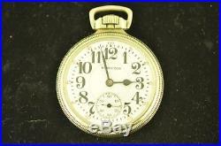 Vintage 16s Hamilton 21j Pocket Watch Grade 992 Very Clean Very Nice Case 1925