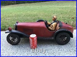 Vintage 1926 Bugatti Racecar Resin Model Large 27 Antique Collectable Very Nice
