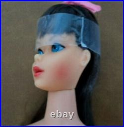 Vintage 1969 Standard Barbie Dk. Brown Hair Iin Original Box Very Nice