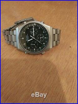 Vintage 1985 Seiko 7A28-701A JDM Speedmaster Chronograph Men's Watch Very Nice