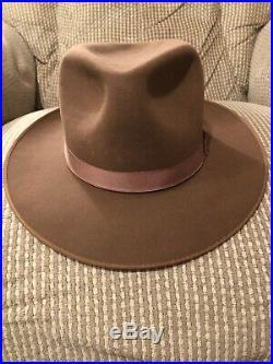 Vintage 50s Dobbs Westward Beaver Fur Fedora Hat 7 1/4 Very Nice