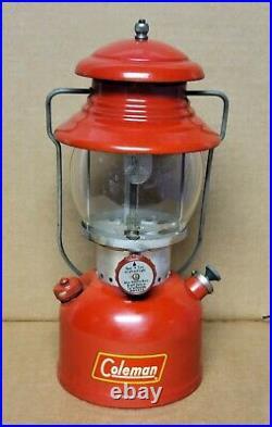 Vintage 7-1955 Model 200A Red Coleman single mantle Lantern VERY NICE & CLEAN