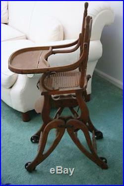 Vintage Antique Baby High Chair! 1890's Very Nice
