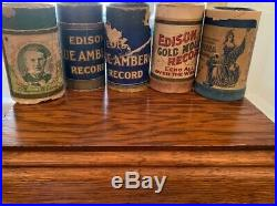 Vintage Antique Early 1900's Edison Cylinder Standard Phonograph VERY NICE LOOK