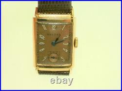 Vintage Bulova 7ap 14k Rose Gold 21 Jewels Overhauled Very Nice Condition
