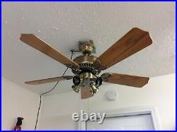 Vintage Casablanca ceiling fan Lady Delta 42 antique brass very nice