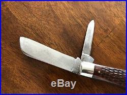 Vintage Case XX 6217 Loom Fixer Folding Knife Very Nice Red Bone Antique