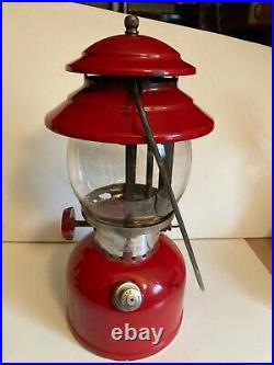 Vintage Coleman 200A Red Lantern October 1963 Very Nice