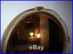 Vintage Danish Bevelled Edge Ornate Mirror, Very Nice Condition