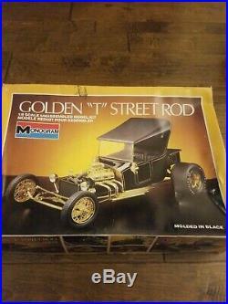 Vintage Golden T 1/8 Scale T-Bucket Ford Street Rod, Monogram, c1985, VeryNICE