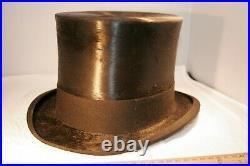 Vintage Henry Heath, Top Hat, 7 1/8, Ruth Brawler, very nice shape, Lincoln Hat