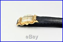Vintage Jules Jurgensen Mens Watch Fancy Lug 14K Solid Gold -Very Nice Cond