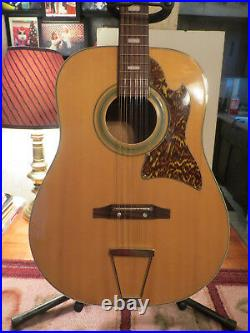 Vintage Kingston 12 String Acoustic Guitar Very Nice