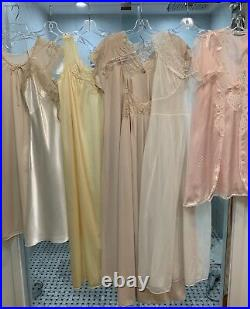 Vintage LINGERIE Lot 85 Pieces slips, gowns, panties VERY NICE LOT