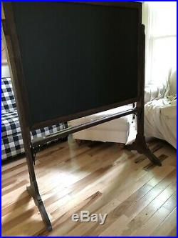 Vintage Large 51 X 63 X 22 2 Sided Slate Blackboard Very Nice