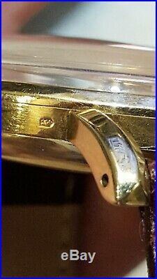 Vintage MEN'S OMEGA 14K GOLD Chronograph Wristwatch CAL. 27 CHRO T1PC VERY NICE