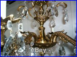 Vintage Made in Spain Very Nice 6 Arm 6 Light Chandelier
