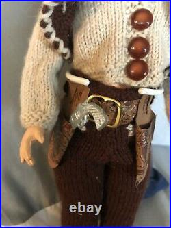 Vintage Mary Hoyer Boy Doll 14 Very Nice Cowboy 1950s