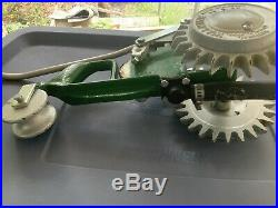 Vintage National A-5 Cast Iron Tractor Walking Lawn Sprinkler Very Nice