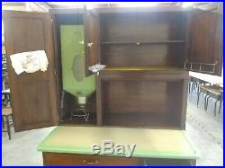 Vintage Oak Hoosier Cabinet Front Roll Up VERY NICE