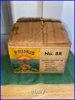 Vintage Primus No 8r Signle Burner Backpacking/camping Stove Very Nice