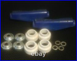 Vintage Tracker Sixtrack Skateboard Trucks Copers Blue Very Nice Condition