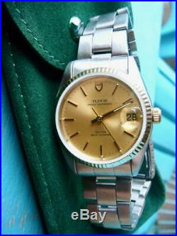 Vintage Tudor by ROLEX, 34mm, Gold Dial, VERY NICE, 9 on 10