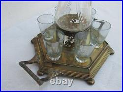 Vintage Very Nice Wmf Little Pitcher With 6 Shot Glasses, Art Noveau, Lqqk! #l