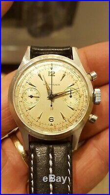 Vintage Wittnauer Stainless Steel Chronograph Cal. Venus 188 Serviced Very Nice