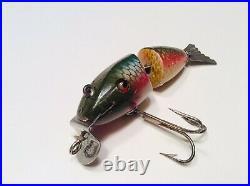 Vintage Wooden Fishing Lure (Creek Chub Baby Wiggle Fish) Very Nice