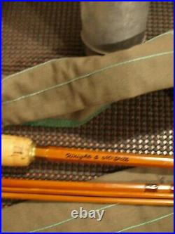 Vintage Wright & Mcgill Granger Bamboo Fly Rod 3/2 9' Case Very Nice