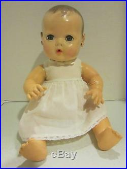 Vintage hard plastic & rubber Effanbee 15 Dy DEE Baby very nice body & face