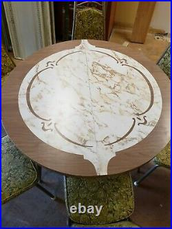 Vtg MCM Retro Kitchen Table And 6 Chairs Very Nice! Rare! One Of A Kind