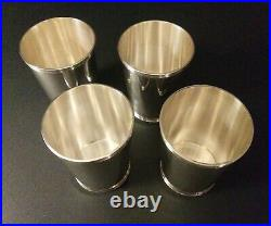 WHITING Sterling Silver Mint Julep Cups SET Of 4 No Monogram VERY Nice