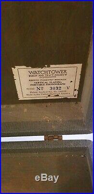 Watchtower Vertical Phonograph Very Nice Rare