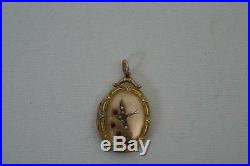 (ref165BI) Very Nice Late 1800 Early 1900 Antique Locket With Swallow Design